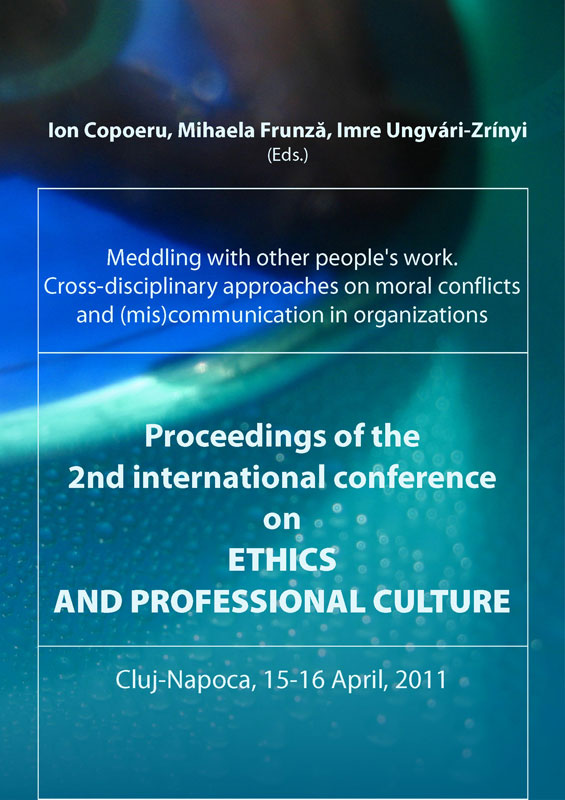 Proceedings of the 2nd international conference on ETHICS AND PROFESSIONAL CULTURE.
